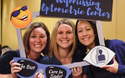 Tom Sullivan Visits The Wyomissing Optometric Center Staff In Reading PA