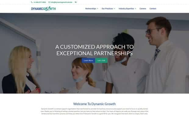 Dynamic Growth Website