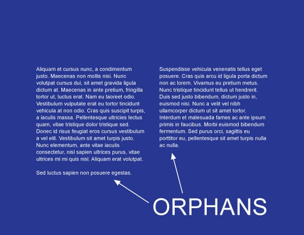 Orphans - Web design