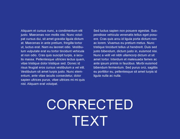 Corrected Text - Web Design