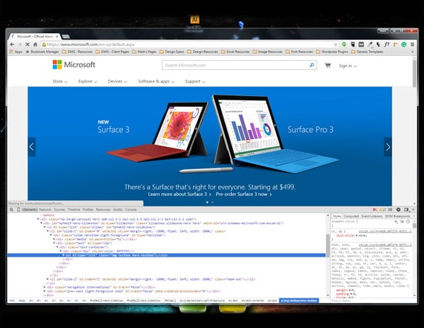 Screenshot of chrome browser