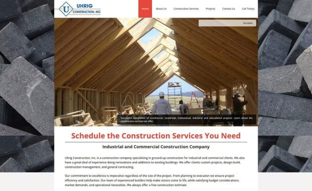 Uhrig Construction Website