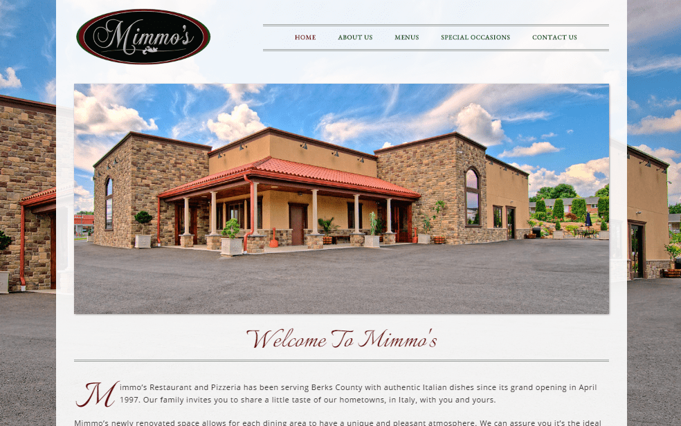 Mimmo's Restaurant and Pizzeria's New Website Designed by DaBrian Marketing Group