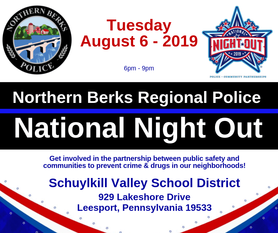 Northern Berks Regional Police National Night Out Banner