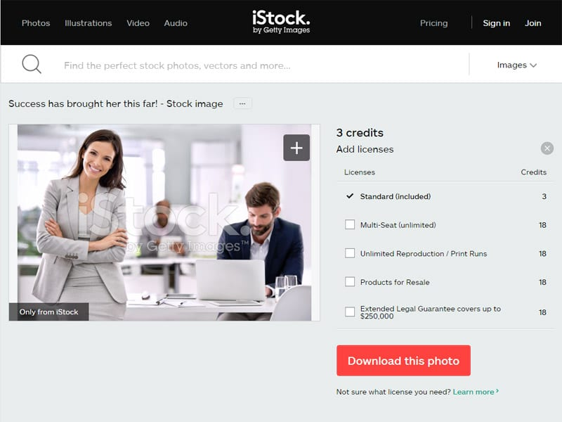 Don't use stock photography for branding your company