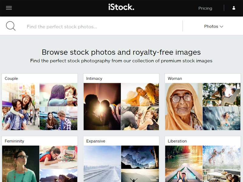 iStock Search Categories