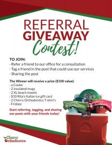 Cherry Orthodontics - Referal Giveaway flyer