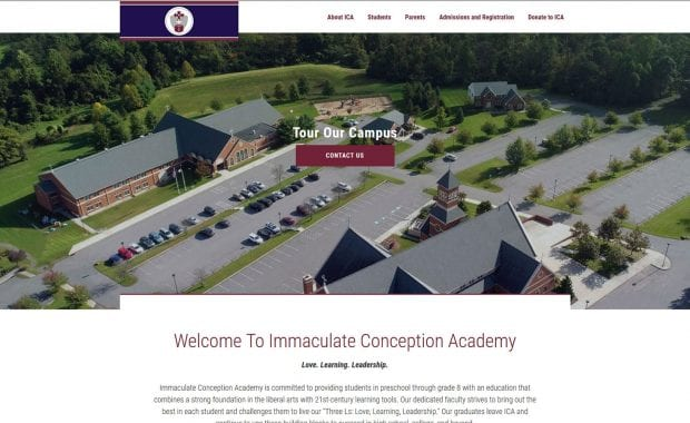 Immaculate Conception Academy Website