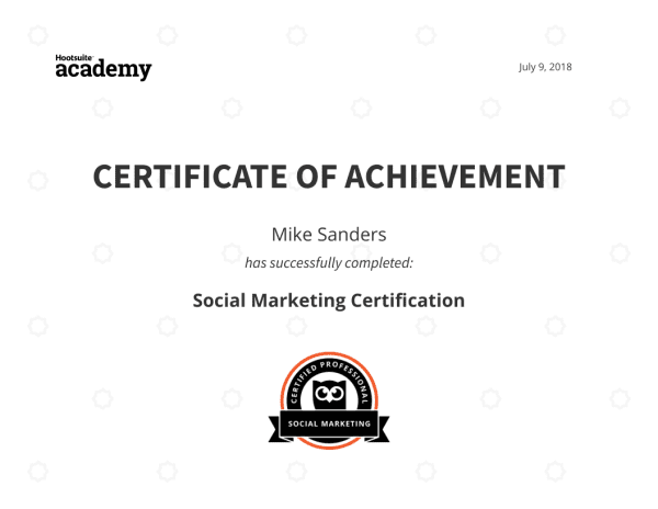 Hootsuite Academy Certification