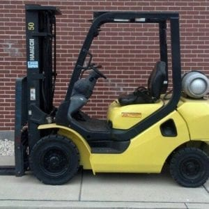 Pneumatic tire forklifts for sale and rent