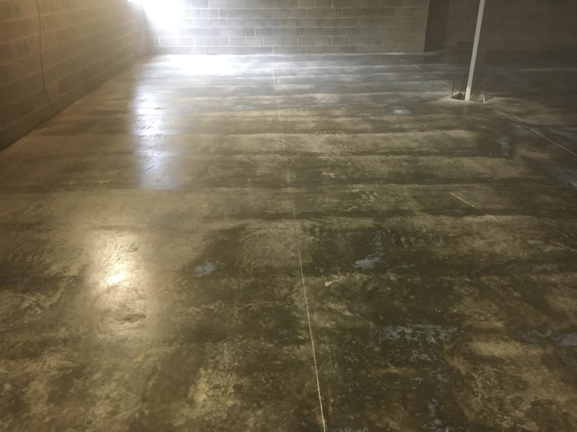 New concrete floor at Hummelstown